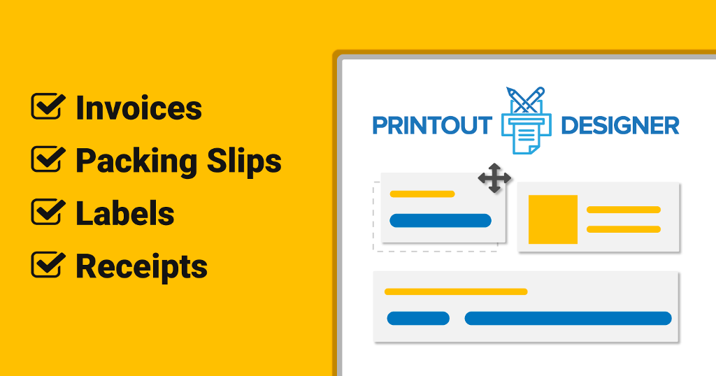 image about Printout Designer named Printout Designer: Acquire Invoices, Packing Slips and Labels