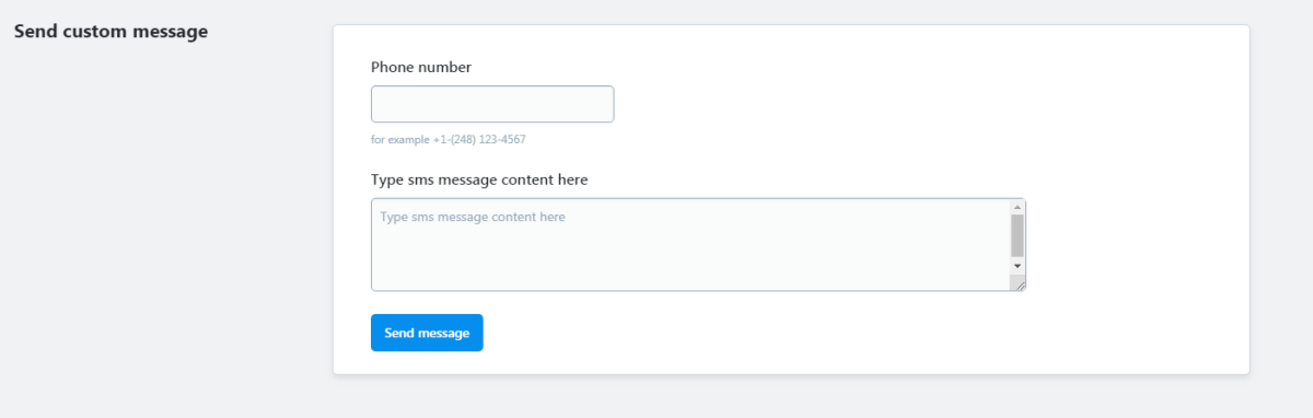 SMS Order Notifications via Twilio, Nexmo, CM com, SMSC RU